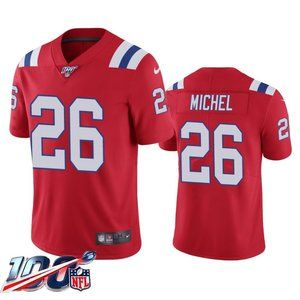 New England Patriots Sony Michel Red Jersey